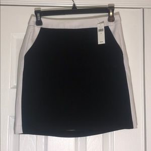 Black skirt with white stripe